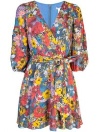 Alice Olivia Kerri Bishop Blossom Wrap Dress - Farfetch at Farfetch