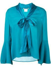 Alice Olivia Merideth Tie Neck Blouse - Farfetch at Farfetch