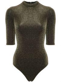 Alice Olivia Nisha Metallic Bodysuit - Farfetch at Farfetch