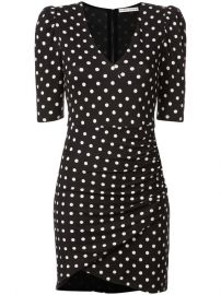 Alice Olivia Polka Dot Ruched Short Dress - Farfetch at Farfetch
