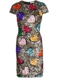 Alice Olivia Sequin Heart Dress at Farfetch