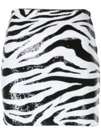Alice Olivia Zebra Print Sequin Skirt - Farfetch at Farfetch