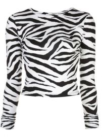Alice Olivia Zebra Print Top - Farfetch at Farfetch