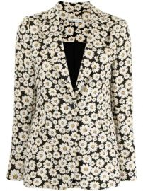 Alice Olivia floral-print single-breasted Blazer - Farfetch at Farfetch