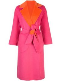 Alice Olivia oversized colour-block coat at Farfetch