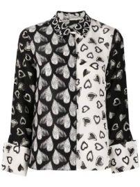 Alice Olivia silk heart print blouse silk heart print blouse at Farfetch
