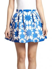 Alice and Olivia - Connor Printed Satin Pleated Mini Skirt at Saks Fifth Avenue