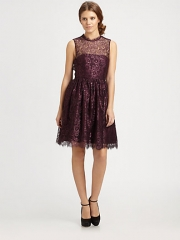 Alice and Olivia - Ophelia Lace Dress at Saks Fifth Avenue