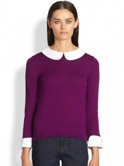 Alice and Olivia - Peter Pan Wool Pullover at Saks Fifth Avenue