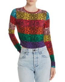 Alice and Olivia Alice   Olivia Delaina Rainbow Snake Print Cropped Top  Women - Bloomingdale s at Bloomingdales