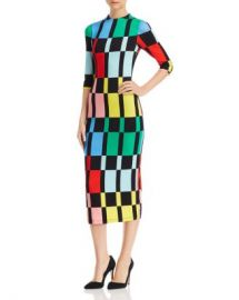 Alice and Olivia Alice   Olivia Delora Geometric Print Midi Dress  Women - Bloomingdale s at Bloomingdales