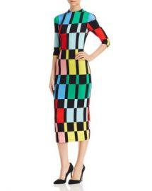 Alice and Olivia Alice   Olivia Delora Geometric Print Midi Dress  Women - Bloomingdale s at Bloomingdales