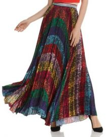 Alice and Olivia Alice   Olivia Katz Rainbow Snake Print Pleated Maxi Skirt Women - Bloomingdale s at Bloomingdales