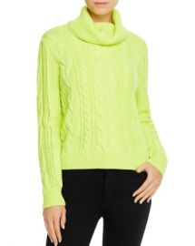 Alice and Olivia Alice   Olivia Mayme Cable-Knit Cowl-Neck Sweater  Women - Bloomingdale s at Bloomingdales