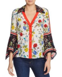 Alice and Olivia Alice   Olivia Randa Bell-Sleeve Mixed Floral Blouse  Women - Bloomingdale s at Bloomingdales