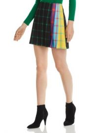 Alice and Olivia Alice   Olivia Semira Pleated Check Mini Skirt  Women - Bloomingdale s at Bloomingdales
