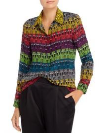 Alice and Olivia Alice   Olivia Willa Rainbow Stace Face Silk Blouse Women - Bloomingdale s at Bloomingdales