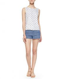 Alice and Olivia Ama Embellished Boat-Neck Tank at Neiman Marcus