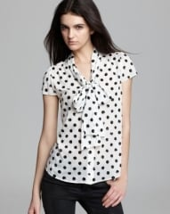Alice and Olivia Blouse - Miranda Sequin Bow at Bloomingdales