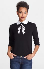 Alice and Olivia Bow Embroidered Sweater at Nordstrom