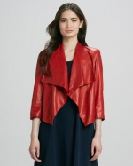 Alice and Olivia Colton Leather Jacket at Neiman Marcus