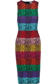 Alice and Olivia Delora Snake Print Dress at The Outnet