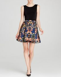 Alice and Olivia Dress - Amabel Box Pleat Butterfly at Bloomingdales