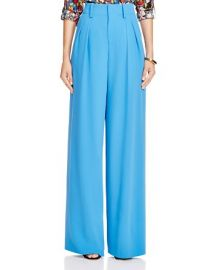 Alice and Olivia Eloise Wide Leg Pleated Trousers at Bloomingdales
