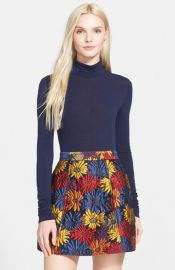 Alice and Olivia Garrison Mock Turtleneck in Sapphire at Nordstrom