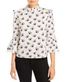 Alice and Olivia Henriette Ruffled Blouse  Women - Bloomingdale s at Bloomingdales