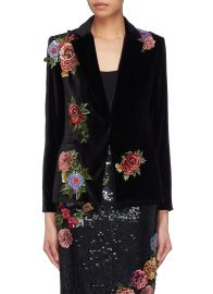 Alice and Olivia Hix Velvet Blazer at Lane Crawford
