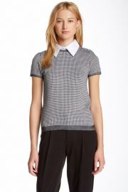 Alice and Olivia Houndstooth tee at Nordstrom Rack