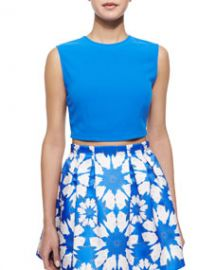 Alice and Olivia Klynn Sleeveless Knit Crop Top at Neiman Marcus