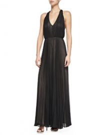 Alice and Olivia Morris Pleated T-Back Jumpsuit at Neiman Marcus