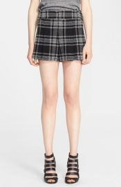 Alice and Olivia Plaid High Waist Shorts at Nordstrom