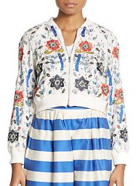 Alice and Olivia Silk Beaded Jacket at Saks Off 5th