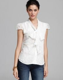Alice and Olivia Top - Flutter Lace Arie at Bloomingdales