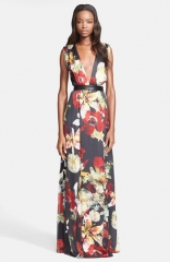 Alice and Olivia Triss Print Silk Maxi Dress at Nordstrom