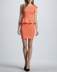 Alice and Olivia Victoria Peplum Dress at Neiman Marcus
