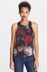 Alice and Olivia and39Vickyand39 Twist Keyhole Back Top at Nordstrom