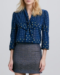 Alice and Olivia floral Arie blouse at Neiman Marcus