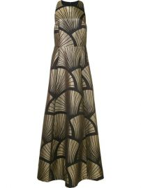 Alice olivia Metallic Pattern Gown  1 343 - Buy SS17 Online - Fast Delivery  Price at Farfetch