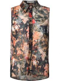 Aliceandolivia Sleeveless Jungle Print Shirt - at Farfetch