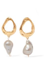 Alighieri - The Infernal Storm gold-plated pearl earrings at Net A Porter