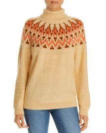 Alison Andrews Fair Isle Turtleneck Sweater Women - Bloomingdale s at Bloomingdales