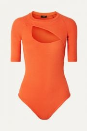 Alix NYC - Sloan cutout ribbed stretch-modal thong bodysuit at Net A Porter