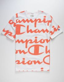 All Over Champion Script T-Shirt by Champion at Tillys
