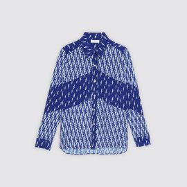 All-Over Lightning Bolt Print Shirt at Sandro
