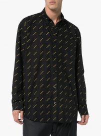 All-Over Logo Print Cotton Shirt at Browns Fashion