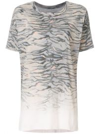 All Saints Tiger Stripes Print Loose Fit T-shirt at Farfetch